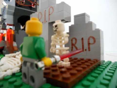 lego skeleton graveyard - YouTube