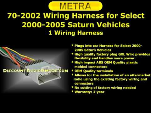 hqdefault 70 2002 metra $17 95 free shipping 00 05 ion vue sc1 2 sw1 sl l,Saturn Wiring Harness
