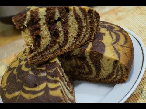Торт зебра на кефире в мультиварке