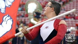The movement of music: Deaf color guard student shares their journey