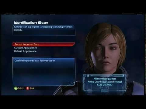 My custom Shepards wont import into Mass Effect 3