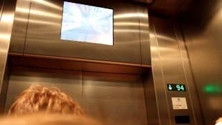 Лифт в Останкинской башне, скорость 7м/c