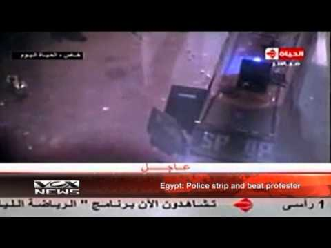 Egypt: Police strip and beat protester