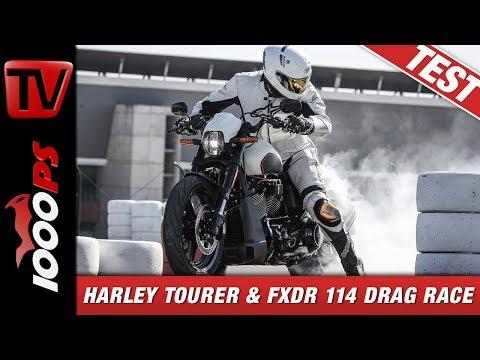 Harley-Davidson - BOOM! Box GTS - update der Touring Modelle und FXDR 114 Drag Rennen