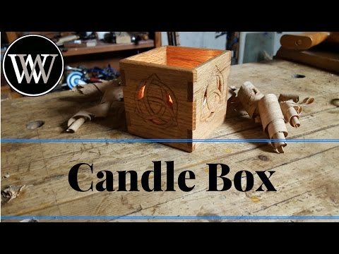 Building a Dovetail Candle Box Handmade With Oak Fretwork and Carving