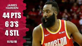 James Harden shows out for 44 points in Rockets vs. Pacers matchup | 2019-20 NBA Highlights