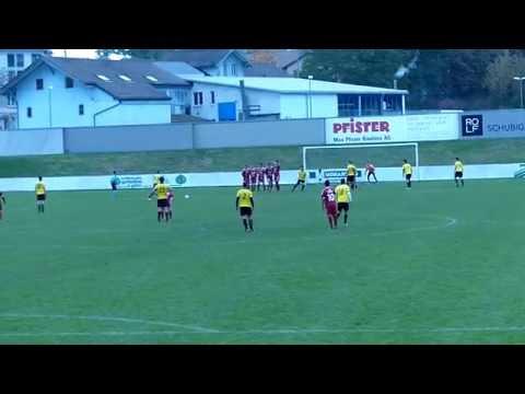 Freistoss Yannick Brunner, FC St. Otmar SG 23.10.2016