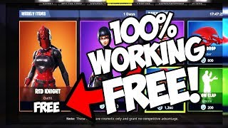 HOW TO GET RED KNIGHT FOR FREE! JULY 2018 100% WORKING! (Fortnite Battle Royale)