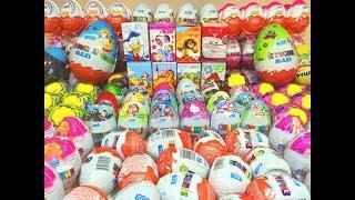 200 Киндер Сюрпризы,Unboxing Kinder Surprise PopPixie,Маша и Медведь,Peppa Pig,Giant KinderMaxi(200 KINDER SURPRISE Eggs !!!-Это Супер Обзор огромнейшая коллекция Киндеров на русском языке. В этом обзоре Вы увидите..., 2015-07-14T08:30:00.000Z)
