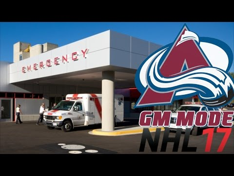 INJURY BUG HITS - NHL 17 - GM Mode Commentary - Colorado ep. 14