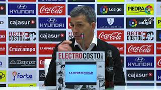 Rueda de prensa de Juan Ramón López Muñiz tras el Córdoba CF vs Málaga CF (1-1)