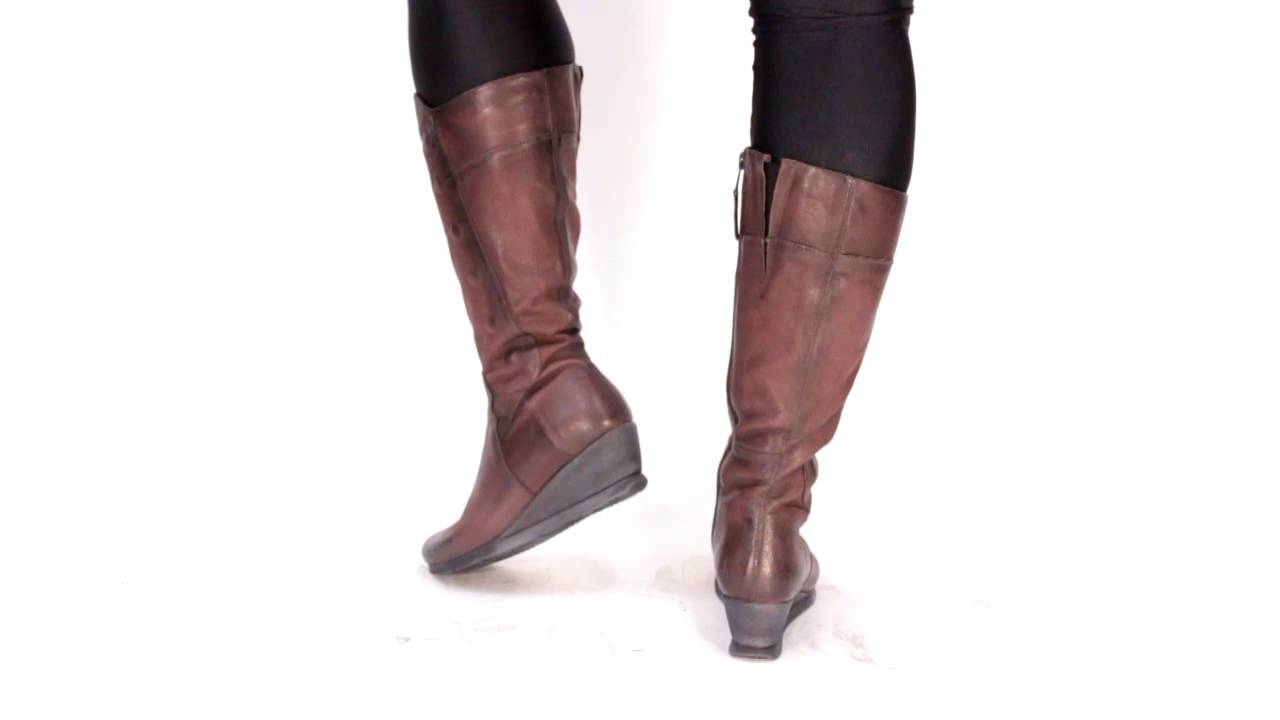 Miz Mooz Women39s Marybeth Knee High Boot Youtube