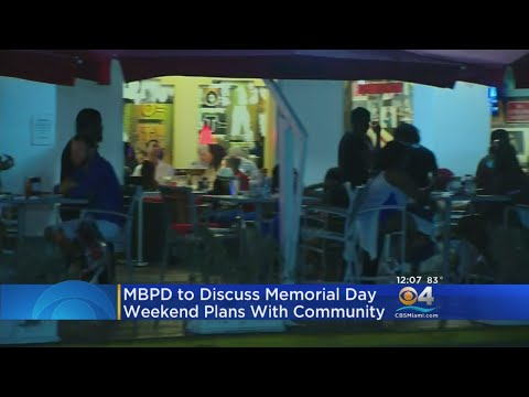 Miami Beach To Hold Community Meeting Ahead Of Memorial Day