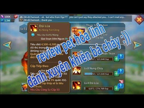 Review Pet Hỏa Linh Game Lords Mobile Skill Tấn Công Xuyên Khiên Bá đạo 😂😂😂