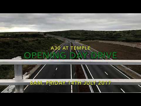 Opening day drive on the A30 at Temple, Cornwall