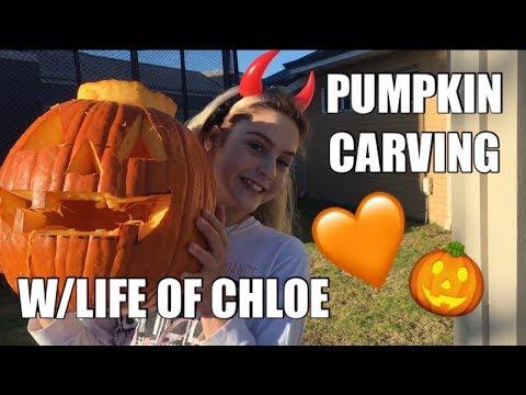 PUMPKIN CARVING W/LIFE OF CHLOE