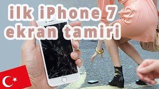 Ilk Turk iPhone 7 Tamiri! EKRAN DEĞİŞİM VIDEOSU! Kırmış Kız!