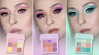 HUDA BEAUTY Pastel Obsessions | 3 PALETTES 3 LOOKS