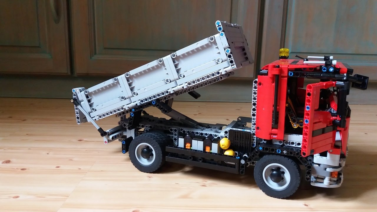 lego technic camion benne youtube. Black Bedroom Furniture Sets. Home Design Ideas