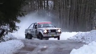 Petter Solberg and his son Oliver Solberg in action with Ford Escort MKII