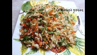 Салат из капусты, редьки и моркови по-корейски (постный)
