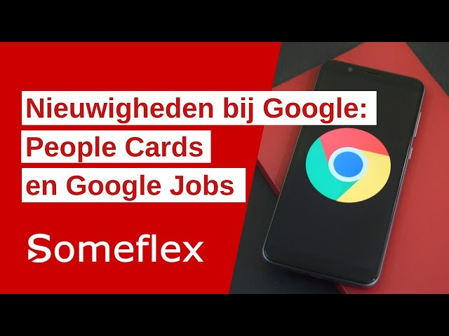 Google komt met functie People Cards en Google Jobs
