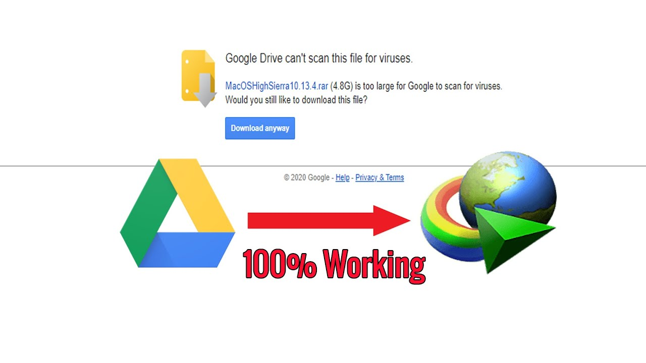 How to Download Big File from Google Drive With IDM [tried 100% Working