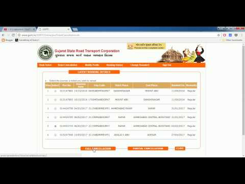 How to cancel ticket in GSRTC
