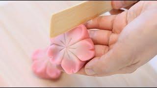 How to make Japanese Traditional Candy Art Wagashi Nerikiri Sakura【Cherry Blossom Flowers】