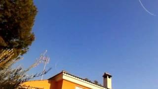 Chemtrail in Spain. Aviones tipo caza, lanzando a