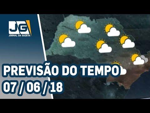 Previsão do Tempo - 07/06/2018