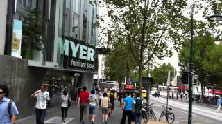 Virtual Walk - Swanston Street from La Trobe Street to Bourke Street Melbourne