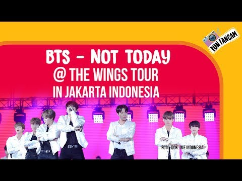 BTS - Not Today @ The Wings Tour In Jakarta