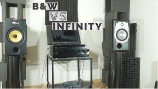B&W 685 S2 vs Infinity Alpha 20 bookshelf speaker sound test