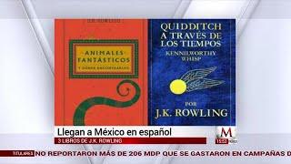 Tres libros de J.K. Rowling, llegan a México en español