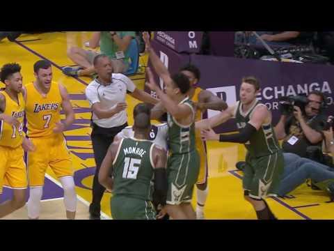 Milwaukee Bucks vs Los Angeles Lakers | March 17, 2017 | NBA 2016-17 Season