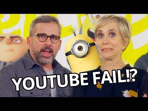 Kristen Wiig + Steve Carell FAIL at YouTube Challenge! - Despicable Me 3 Movie