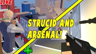 🔴 ROBLOX! Playing With Fans! - Arsenal, Strucid!| #RoadTo11.2K| Roblox Live Stream🔴