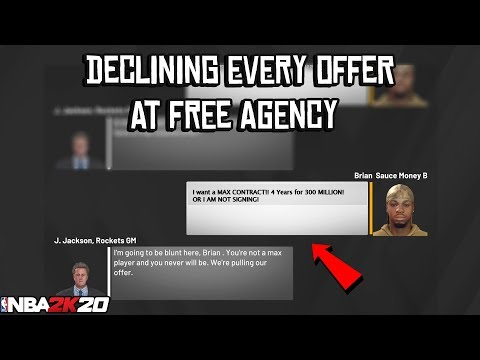 What Happens When You DECLINE Every Offer In Free Agency? NBA 2K20 MyCareer