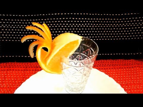 ART IN ORANGE - FRUITS CARVING & HOW TO MAKE ORANGE GARNISH DESIGN