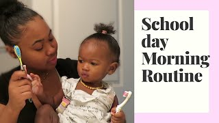 TEEN MOM MORNING ROUTINE WITH A TODDLER|SCHOOL DAY
