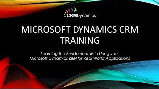 Microsoft Dynamics CRM 2016 Getting Started with Charts and Dashboards (35:59)