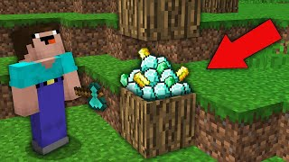 minecraft-noob-vs-pro-noob-broke-wood-and-found-rarest-treasure-in-tree-challenge-100-trolling