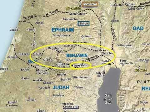 04 Benjamin Region and Jerusalem Approaches, Satellite Bible Atlas Maps 1-8 & 1-9