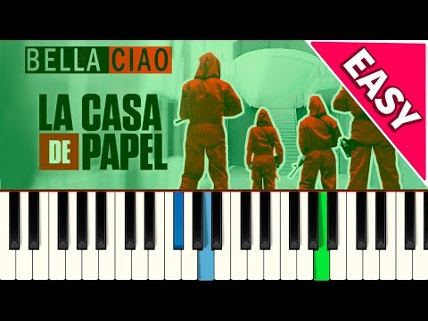 💎Bella Ciao - EASY SLOW - Piano tutorial - MASTER TECLAS💎