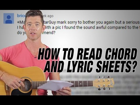 """""""How to Read Chord and Lyric Sheets?"""" - Q&A Friday"""