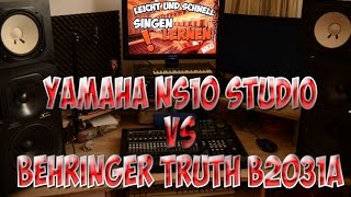 YAMAHA NS 10M STUDIO vs BEHRINGER TRUTH B2031A