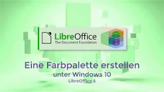 Eine Farbpalette erstellen in LibreOffice 6 (German)