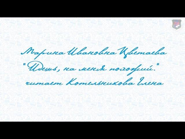 Изображение предпросмотра прочтения – ЕленаКотельникова читает произведение «Идешь, на меня похожий.» М.И.Цветаевой