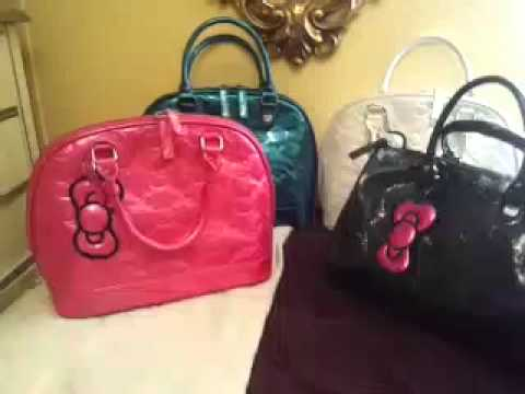 806885a65406 hello kitty embossed handbags by loungefly - YouTube